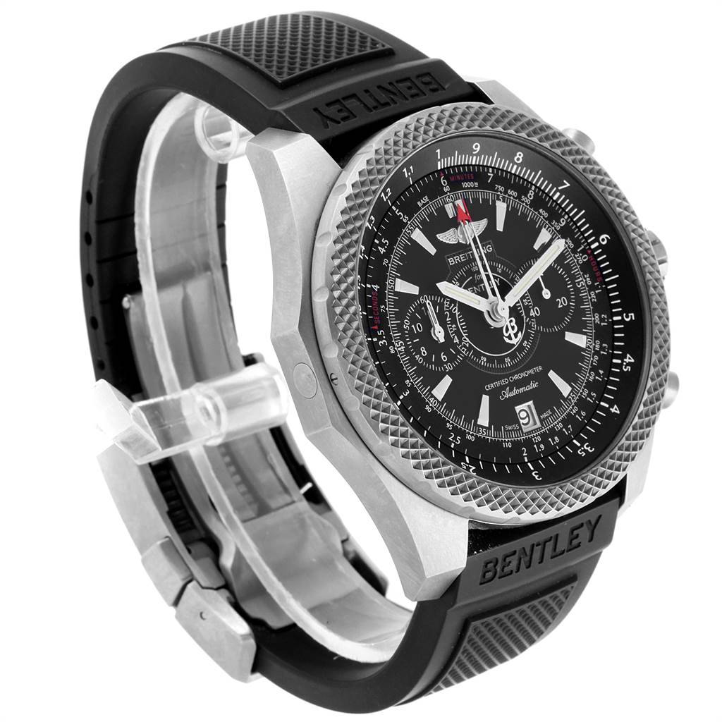 22564 Breitling Bentley Super Sports Rubber Strap Mens Watch E27365 Box Papers SwissWatchExpo