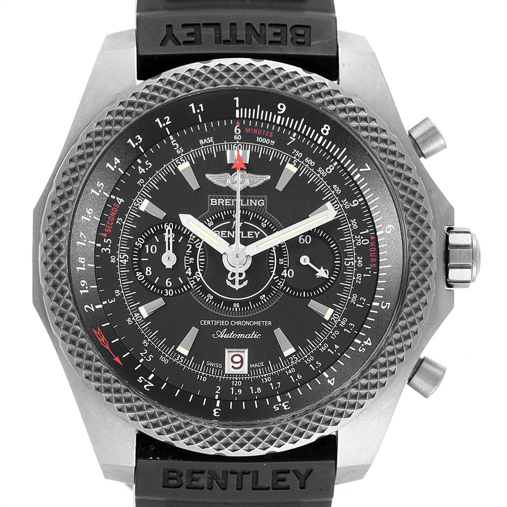 Breitling Bentley Super Sports Rubber Strap Mens Watch E27365 Box Papers SwissWatchExpo