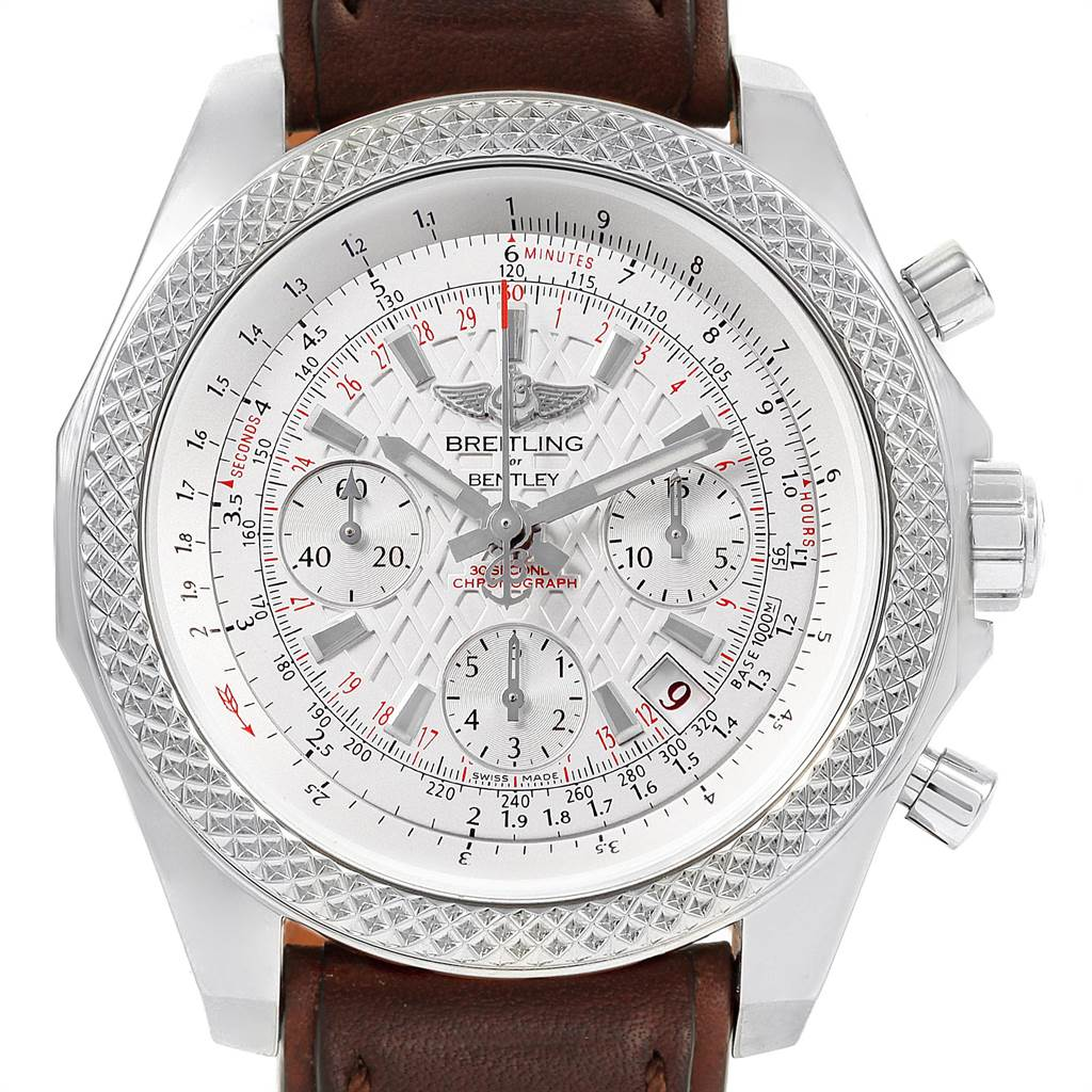 22591 Breitling Bentley B05 Unitime Silver Dial Mens Watch AB0612 Box Papers  SwissWatchExpo