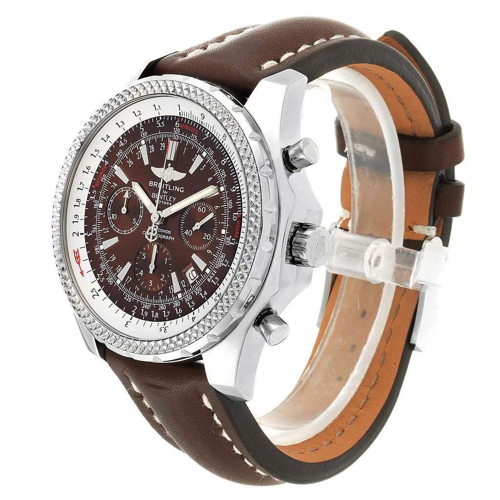 22812 Breitling Bentley Bronze Dial Chronograph Steel Mens Watch A25362 SwissWatchExpo
