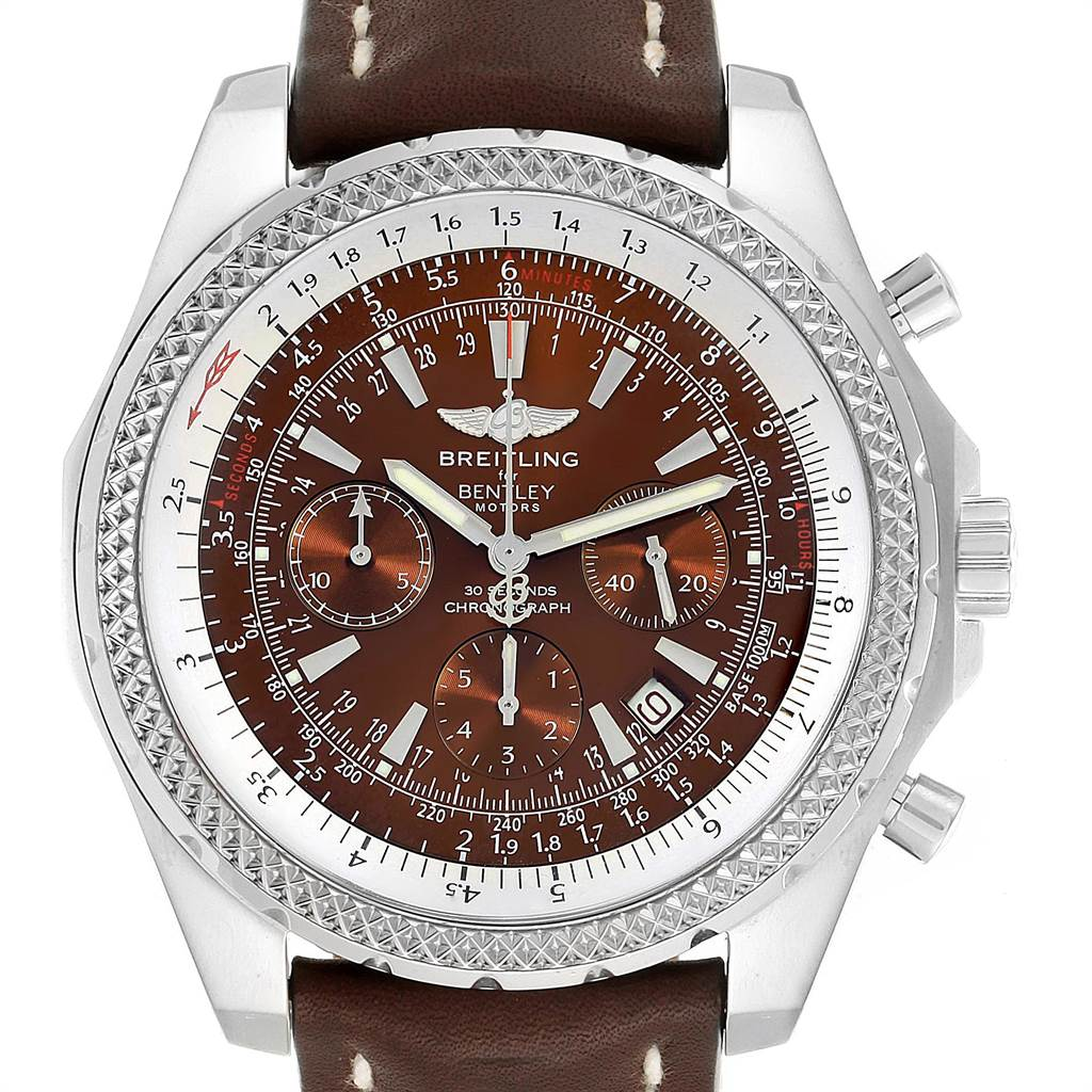 Photo of Breitling Bentley Bronze Dial Chronograph Steel Mens Watch A25362