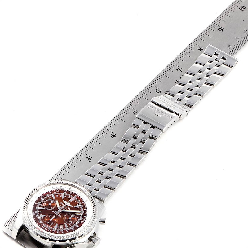 Breitling Bentley Motors Bronze Dial Chronograph Steel Mens Watch A25362 SwissWatchExpo