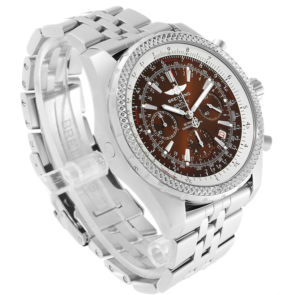 32396 Breitling Bentley Motors Bronze Dial Chronograph Steel Mens Watch A25362 SwissWatchExpo