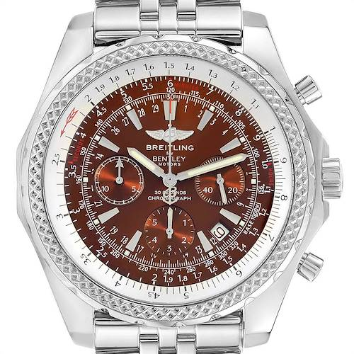 Photo of Breitling Bentley Motors Bronze Dial Chronograph Steel Mens Watch A25362