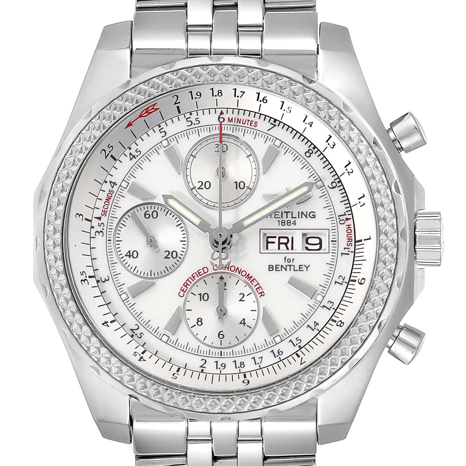 Photo of Breitling Bentley Motors GT Silver Dial Chronograph Mens Watch A13362