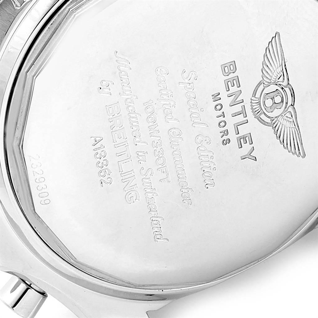 23264 Breitling Bentley Motors GT Burgundy Dial Chronograph Watch A13362 SwissWatchExpo
