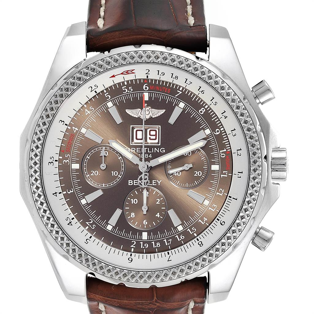 23926 Breitling Bentley Motors Chronograph Bronze Dial Mens Watch A44362 SwissWatchExpo