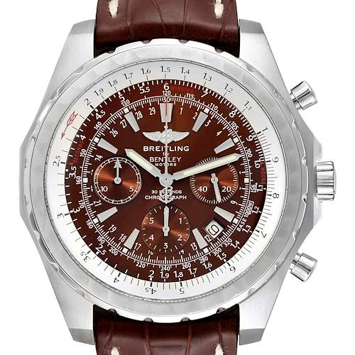 Photo of Breitling Bentley Motors T Chrono Bronze Dial Steel Mens Watch A25363