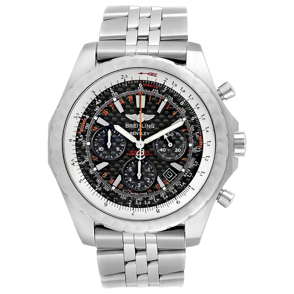 24517 Breitling Bentley Motors T Speed Carbon Dial Limited Watch A25365 SwissWatchExpo