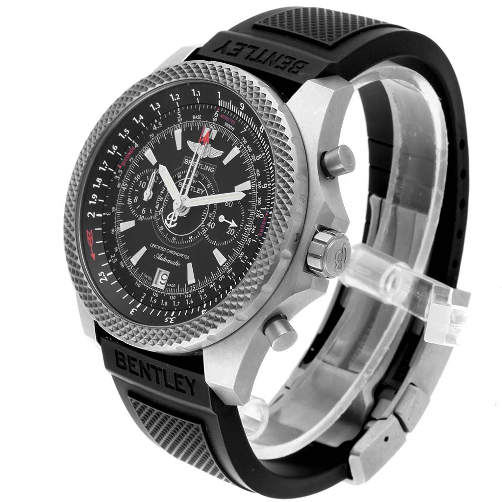 24326 Breitling Bentley Super Sports Rubber Strap Mens Watch E27365 Box SwissWatchExpo