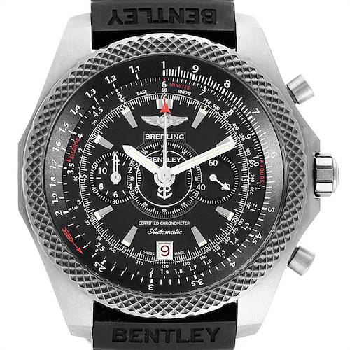 Photo of Breitling Bentley Super Sports Rubber Strap Mens Watch E27365 Box
