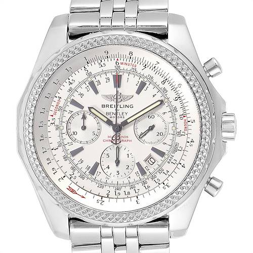 Photo of Breitling Bentley Motors Silver Dial Chronograph Watch A25362 Box Papers