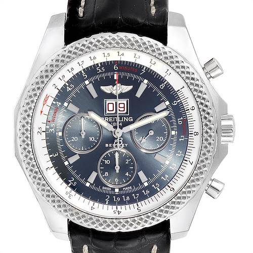 Photo of Breitling Bentley 6.75 Speed Chronograph Blue Dial Mens Watch A44364