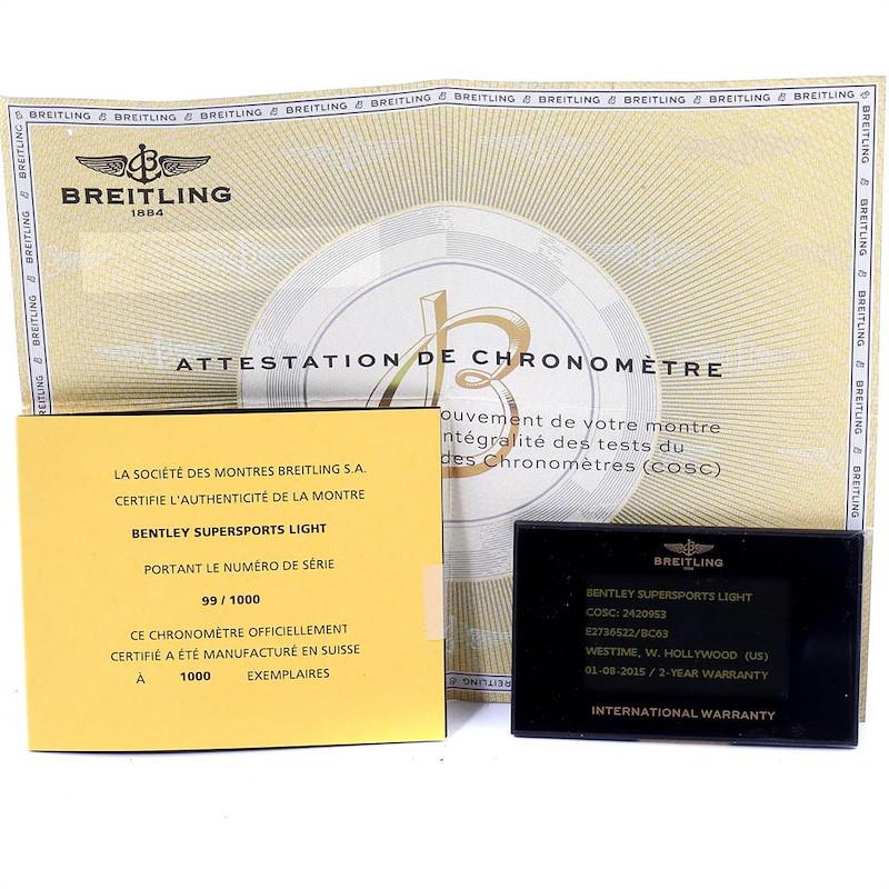 Breitling Bentley Motors T Black Dial Chronograph Watch A25363 Box SwissWatchExpo