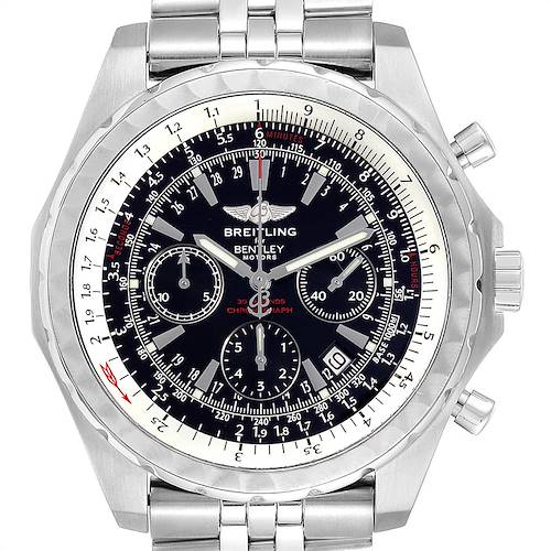 Photo of Breitling Bentley Motors T Black Dial Chronograph Watch A25363 Box