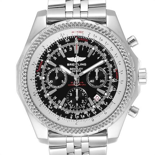 Photo of Breitling Bentley Motors Black Dial Chrono Mens Watch A25362 Box Papers