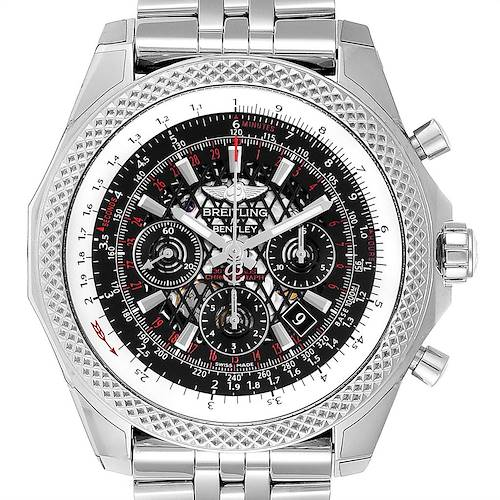 Photo of Breitling Bentley B06 Black Dial Chronograph Watch AB0611 Box Papers