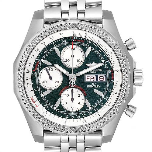 Photo of Breitling Bentley Motors GT Green Dial Steel Mens Watch A13362 Box Papers
