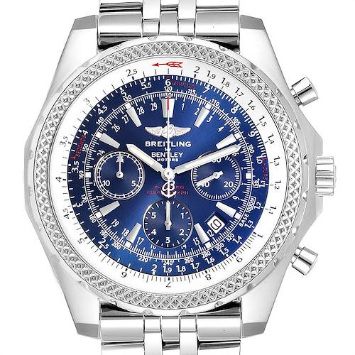 Photo of Breitling Bentley Motors Blue Dial Chronograph Watch A25362 Box