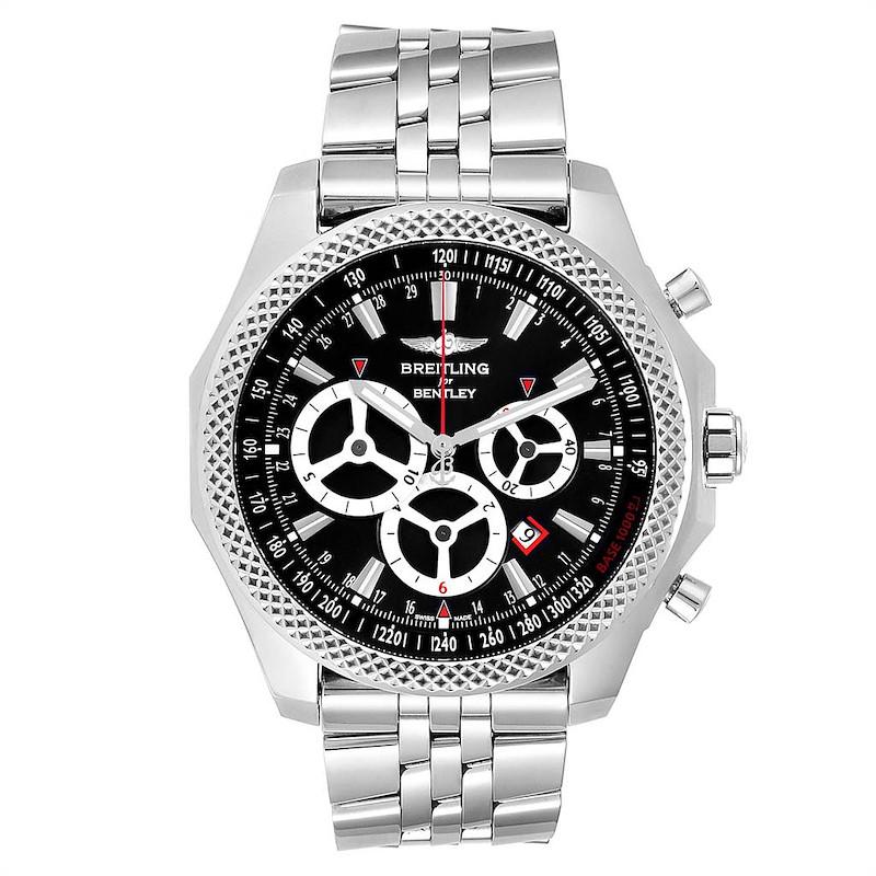 Breitling Bentley Barnato Racing Black Dial Mens Watch A25366 Box Papers SwissWatchExpo