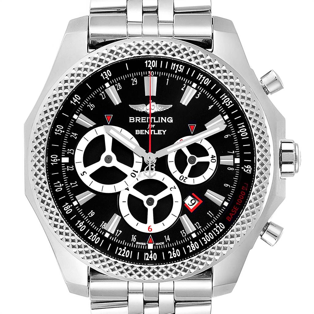 Breitling Bentley Barnato Racing Black Dial Mens Watch A25366 Box Papers