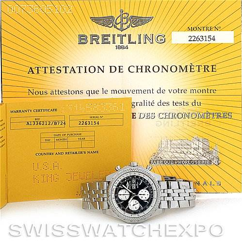 3020 Breitling Bentley Motors GT A1336212/B724 Black Dial SwissWatchExpo