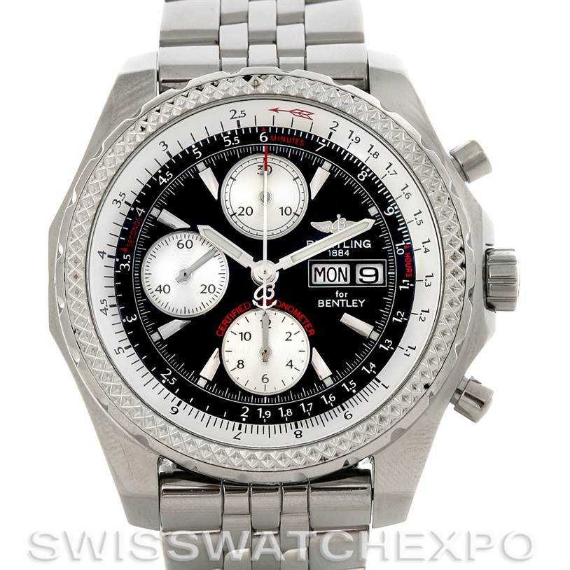 Breitling Bentley Motors Gt A1336212 B724 Black Dial Watch