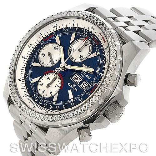 4267 Breitling Bentley Motors GT Blue Dial Watch A1336212/c649  SwissWatchExpo