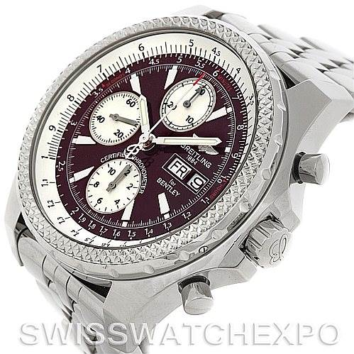 Breitling Bentley Motors GT A13362 Burgundy Dial Watch SwissWatchExpo