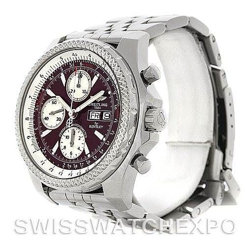4580 Breitling Bentley Motors GT A13362 Burgundy Dial Watch SwissWatchExpo