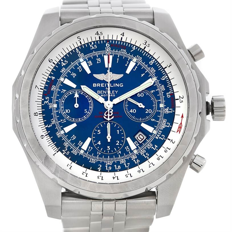 3011 Breitling Bentley Motors T A25363 Men's Steel Watch SwissWatchExpo