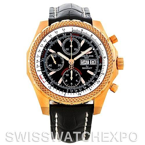 Breitling Bentley GT Continental Racing Limited Ed 18K Rose Gold Watch H13353 SwissWatchExpo