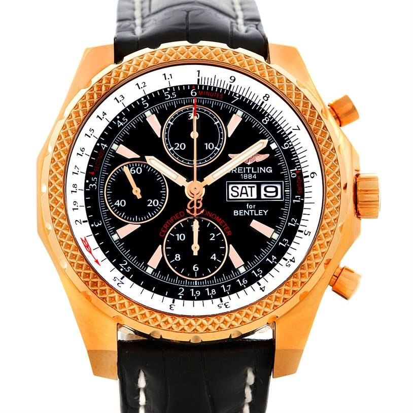 Breitling Bentley Gt Wristwatches: Breitling Bentley GT Continental Racing Limited Ed 18K