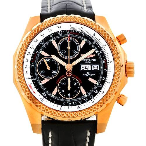 Photo of Breitling Bentley GT Continental Racing Limited Ed 18K Rose Gold Watch H13353