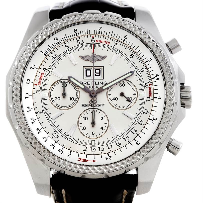 5752 Breitling for Bentley Speed Steel Watch A44362 SwissWatchExpo