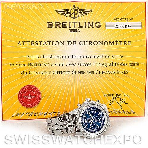 5790 Breitling Bentley Motors Chronograph Mens Watch A44362 SwissWatchExpo