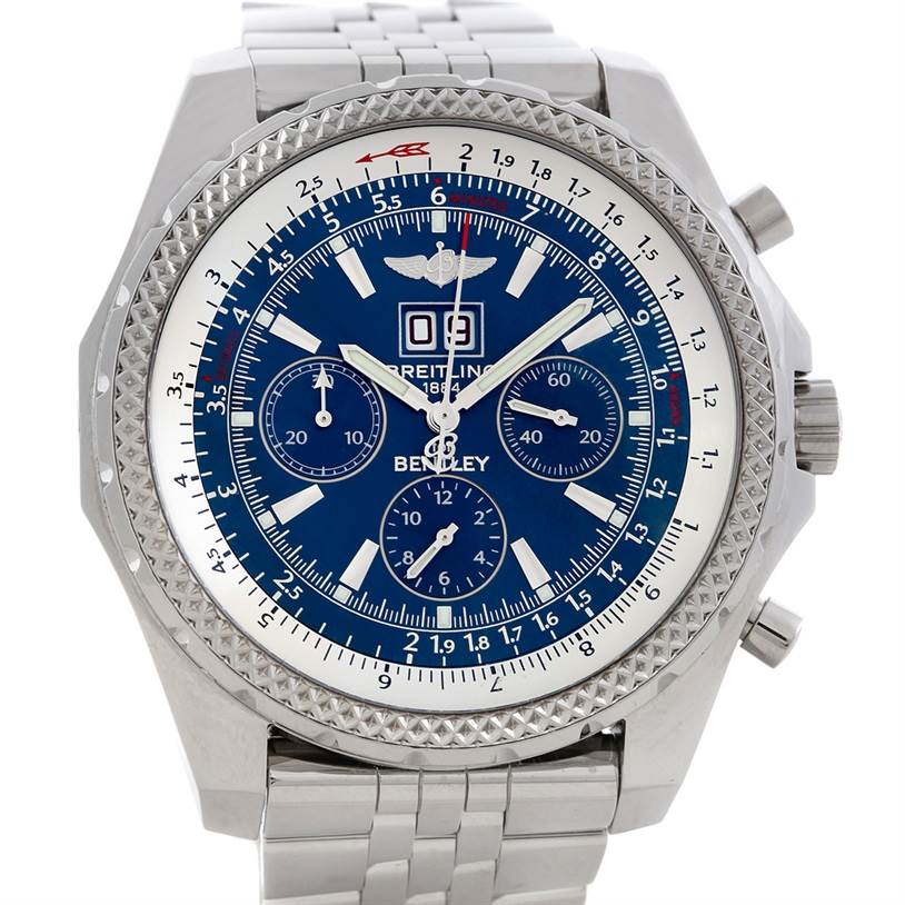 breitling bentley motors chronograph mens a44362