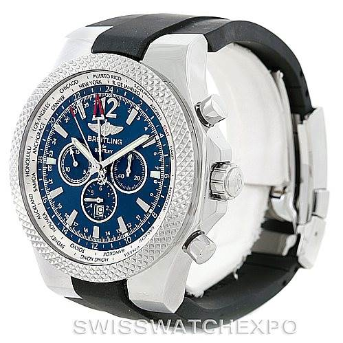 6984 Breitling Bentley Chronograph GMT Mens Watch A47362 SwissWatchExpo