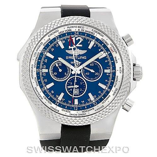 Breitling Bentley Chronograph GMT Mens Watch A47362 SwissWatchExpo