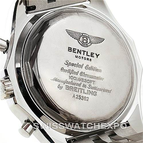 Breitling bentley motors special edition certified chronometer a25362