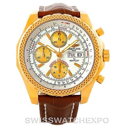 7401P Breitling Bentley Motors GT 18K Yellow Gold Watch K13362 SwissWatchExpo
