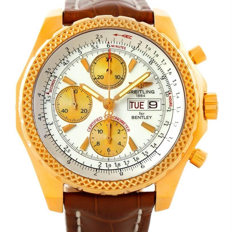 Breitling Bentley Motors GT 18K Yellow Gold Watch K13362 SwissWatchExpo
