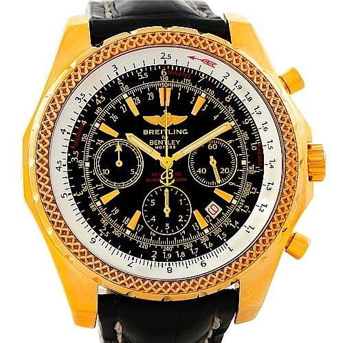 Breitling Bentley Motors 18K Yellow Gold Special Edition Watch K25362 SwissWatchExpo
