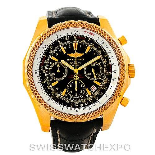 Breitling bentley motors 18k yellow gold special edition for Bentley motors special edition watch a25362
