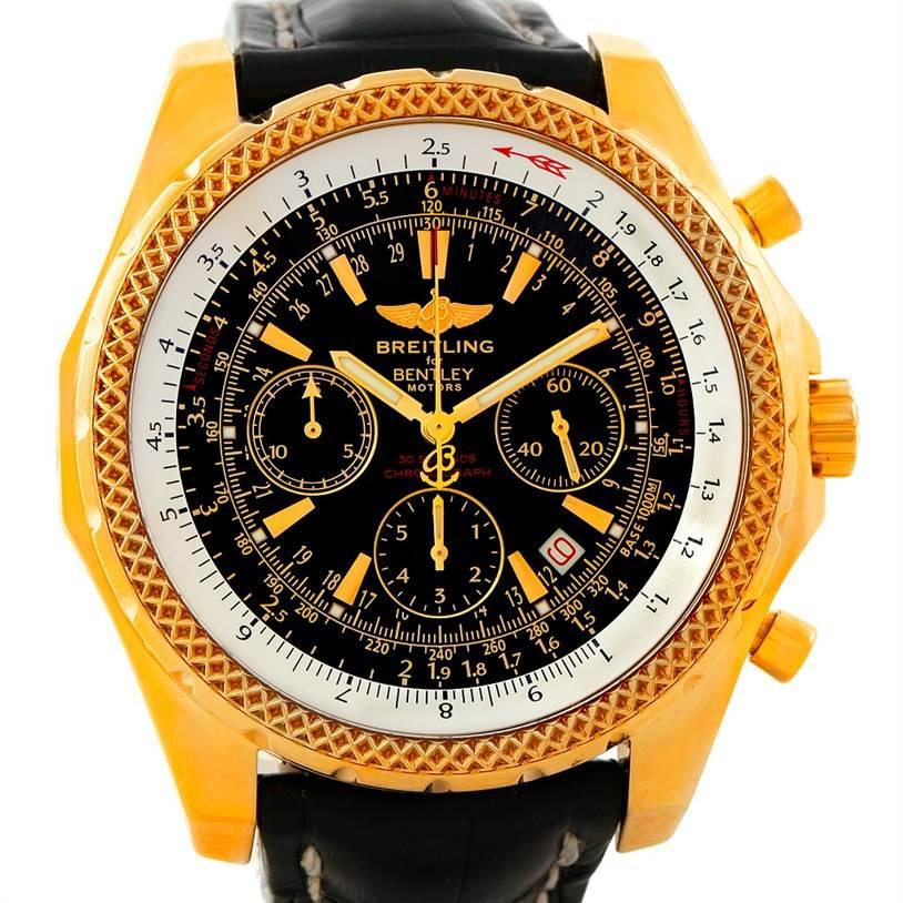 Breitling Bentley Motors 18K Yellow Gold Special Edition Watch K25362 SwissWatchExpo