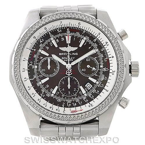 Breitling Bentley Motors T Mens Steel Watch A25363 SwissWatchExpo