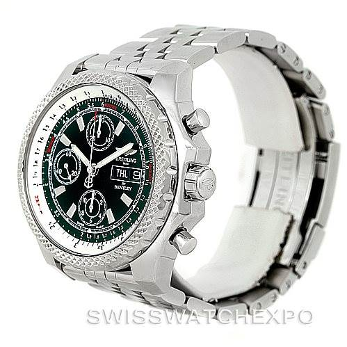 Breitling Bentley Motors GT II Green Special Edition Watch A25363 SwissWatchExpo