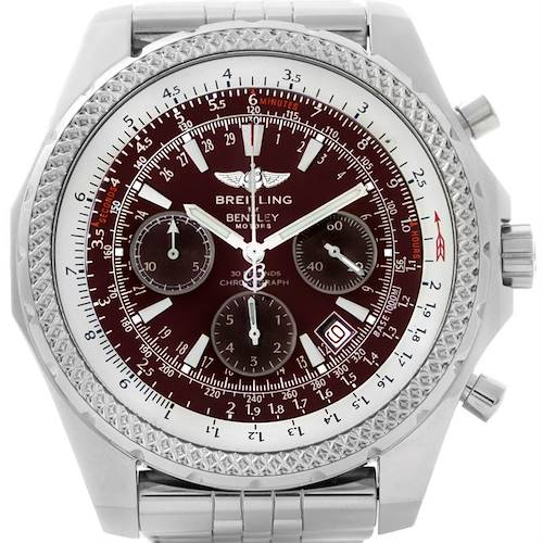 Photo of Breitling Bentley Motors Burgundy Dial Chronograph Mens Watch A25362