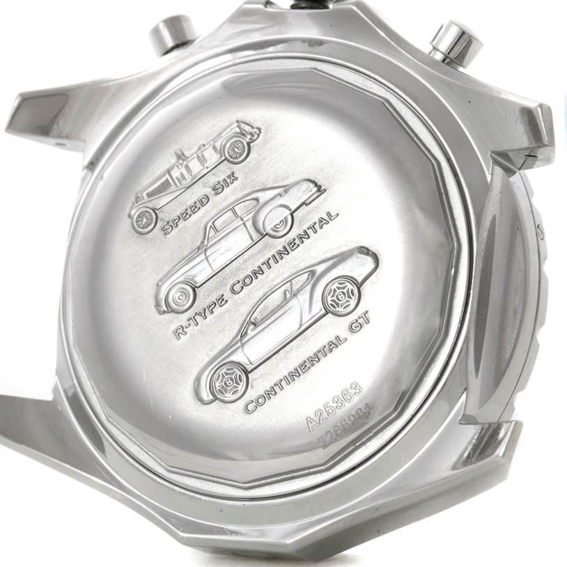 Breitling Bentley Motors T Blue Dial Mens Steel Watch A25363 SwissWatchExpo