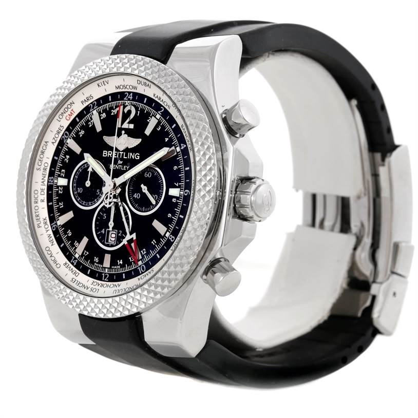 8673 Breitling Bentley Chronograph GMT Mens Watch A47362 SwissWatchExpo